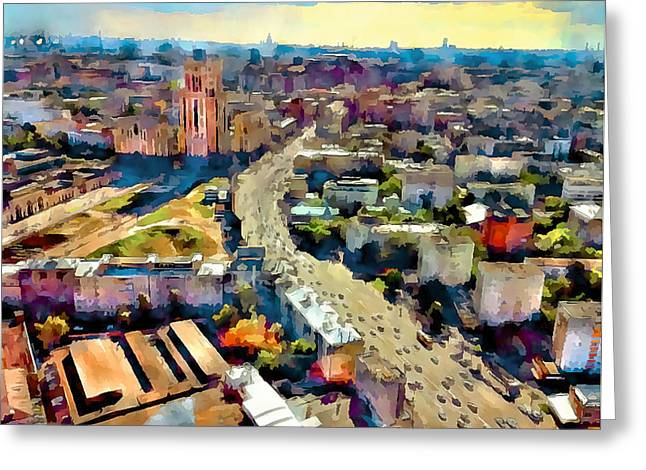 Moscow Digital Greeting Cards - Moscow Scape 2 Greeting Card by Yury Malkov