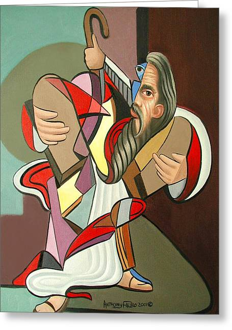 Church Framed Prints Greeting Cards - Moses Greeting Card by Anthony Falbo