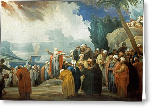 Elect Greeting Cards - Moses elects the Council of Seventy Elders Greeting Card by Jacob de Wit