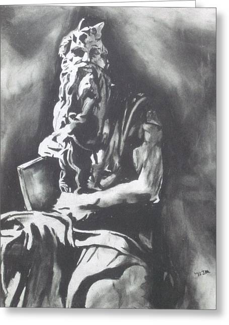 Moses Greeting Card by Jeremy Moore
