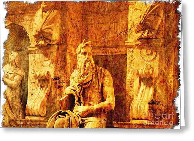 Michelangelo Greeting Cards - Moses Greeting Card by Stefano Senise