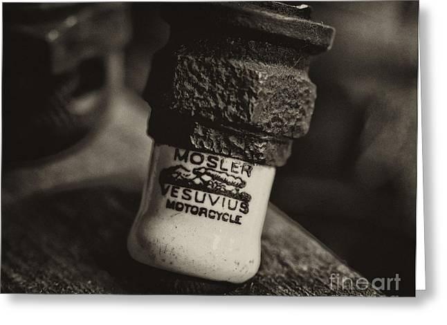 Mosler Vesuvius Motorcycle Spark Plug Greeting Card by Wilma  Birdwell