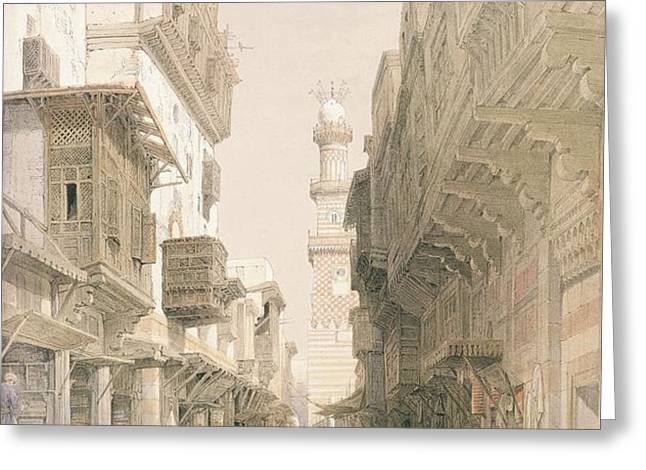 Mosque El Mooristan Greeting Card by David Roberts