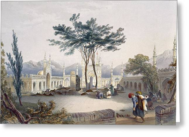 Mosque Of Goolaum Hoossein Huzrut-jee Greeting Card by James Rattray