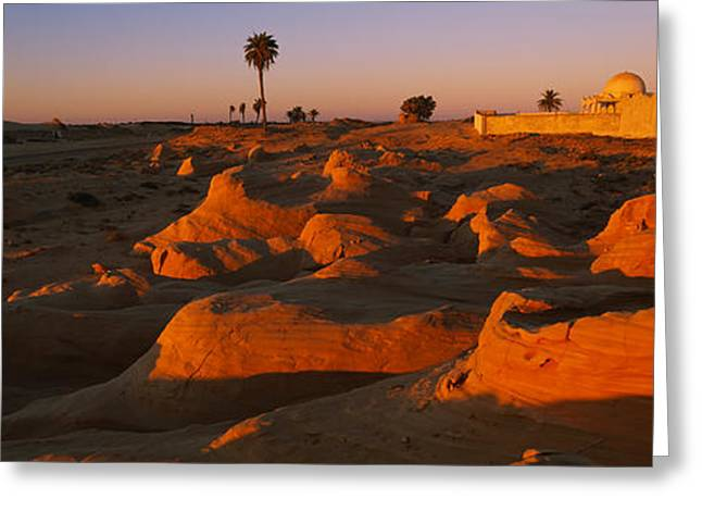 Tunisia Greeting Cards - Mosque On A Hill, Douz, Tunisia Greeting Card by Panoramic Images