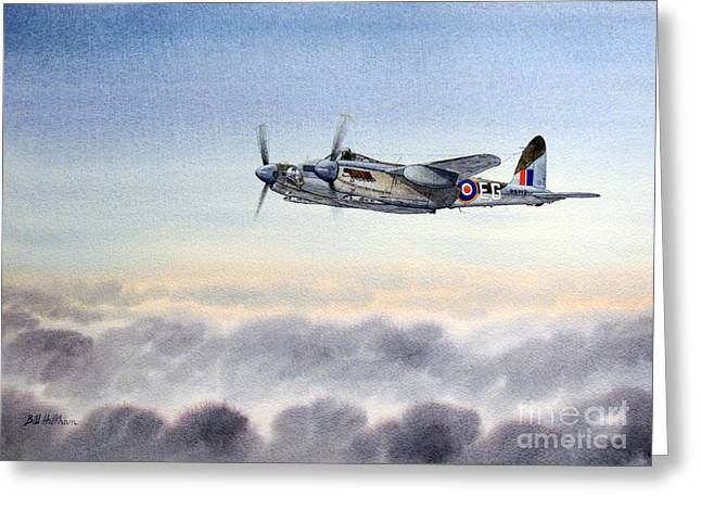 Strike Paintings Greeting Cards - Mosquito Aircraft Greeting Card by Bill Holkham
