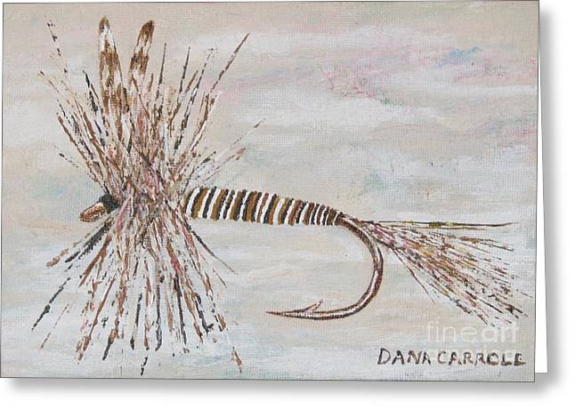 Mosquito Dry Fly Greeting Card by Dana Carroll