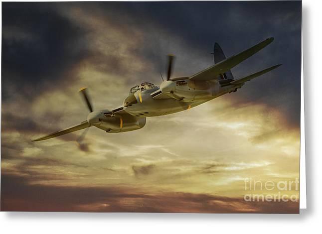De Havilland Greeting Cards - Mosquito Greeting Card by J Biggadike