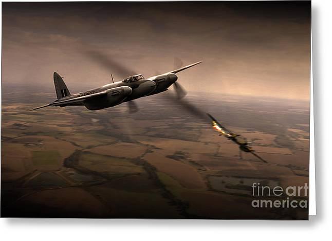 De Havilland Greeting Cards - Mosquito Kill  Greeting Card by J Biggadike