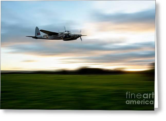 De Havilland Greeting Cards - Mosquito Speed  Greeting Card by J Biggadike
