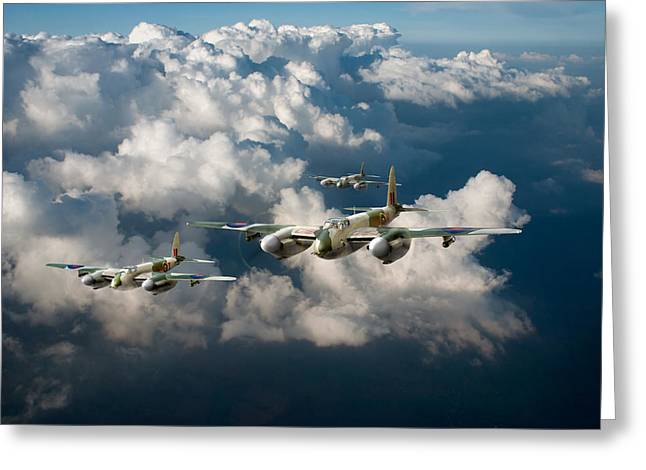 Fb Greeting Cards - Mosquitos above clouds Greeting Card by Gary Eason