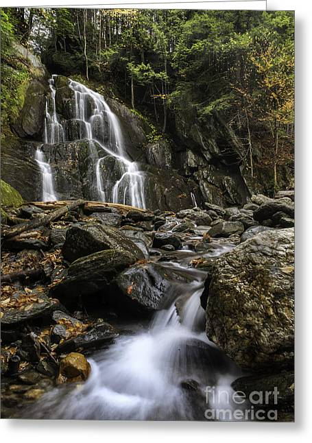 Scenic Drive Greeting Cards - Moss Glen Falls Greeting Card by Thomas Schoeller
