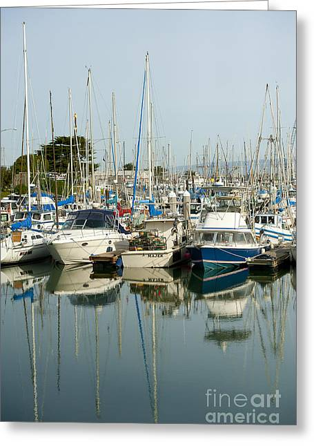 California Beaches Greeting Cards - Moss Landing Boat Harbor Greeting Card by Artist and Photographer Laura Wrede