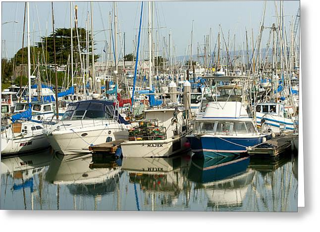 Moss Landing Boat Harbor Greeting Card by Artist and Photographer Laura Wrede