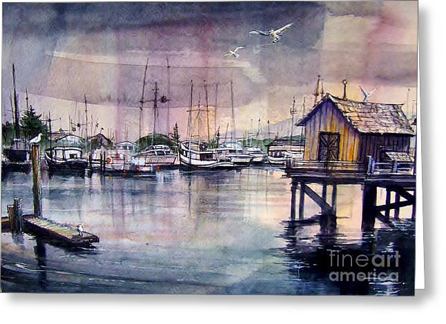 Moss Landing Harbor Greeting Cards - Moss Landing California Greeting Card by Bruce  Repei