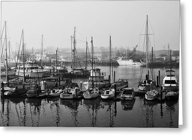 Moss Landing California Greeting Cards - Moss Landing Harbor Greeting Card by Mick Burkey