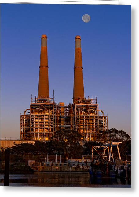 Moss Landing Boats Greeting Cards - Moss Landing Power Plant Greeting Card by Kathleen Bishop