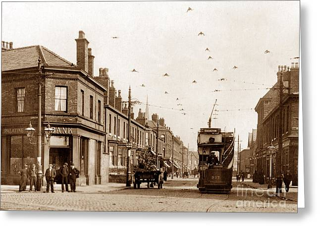 Whalley Greeting Cards - Moss Lane West Whalley Range Blackburn England Greeting Card by The Keasbury-Gordon Photograph Archive