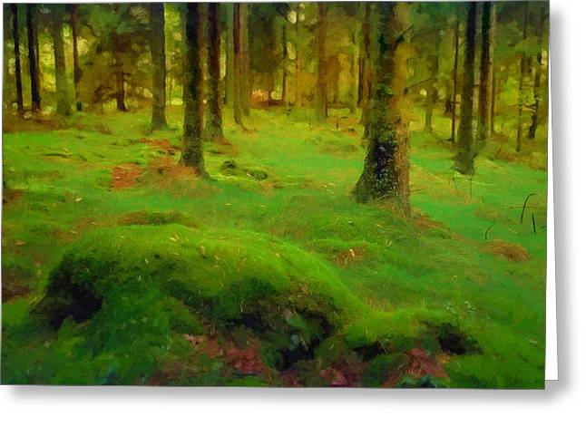 Mossy Greeting Cards - Mossy Woods Greeting Card by Lutz Baar