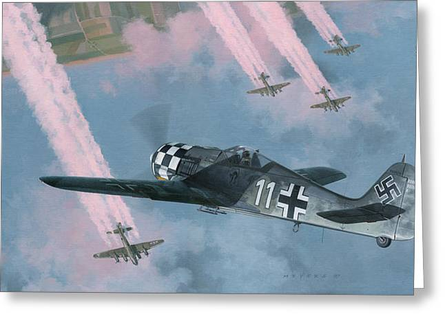 Luftwaffe Greeting Cards - Most Dangerous Game Greeting Card by Wade Meyers