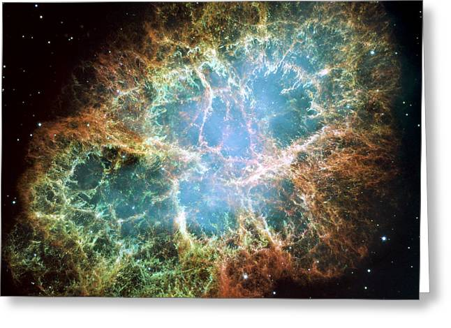 Nebula Greeting Cards - Most detailed image of the Crab Nebula Greeting Card by Adam Romanowicz
