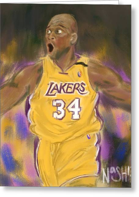 Shaq Greeting Cards - Most Dominant of All Time Greeting Card by Jeremy Nash