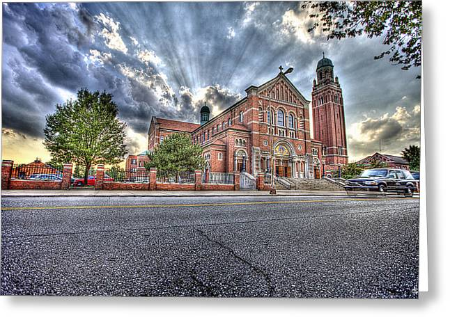 Most Greeting Cards - Most Holy Redeemer Catholic Church Detroit MI Greeting Card by B And G Art