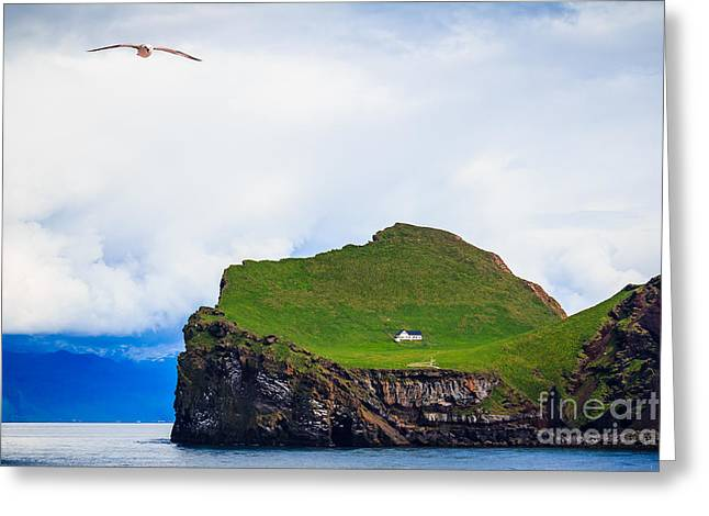 Most Peaceful House In The World Greeting Card by Peta Thames