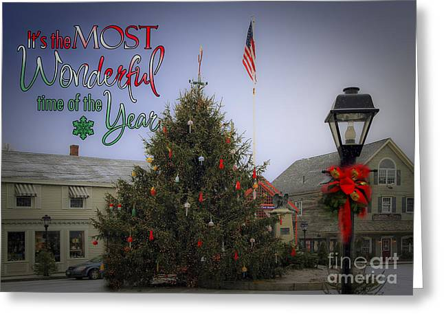 Lobster Post Greeting Cards - Most Wonderful Christmas Greeting Card by Brenda Giasson