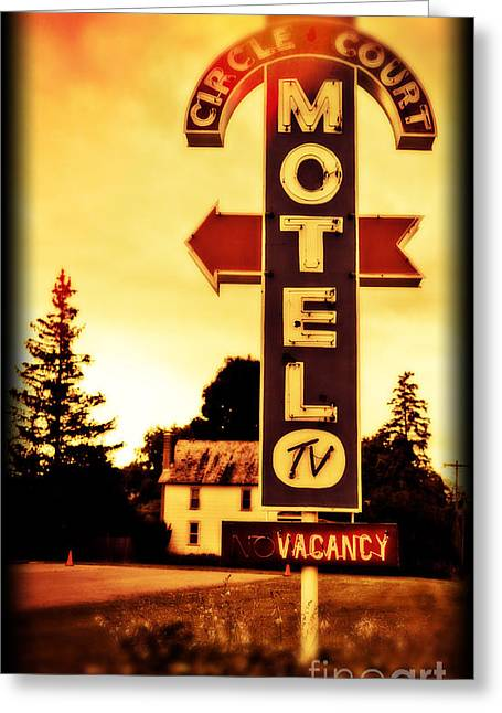 Upstate Greeting Cards - Motel Hell Greeting Card by Edward Fielding
