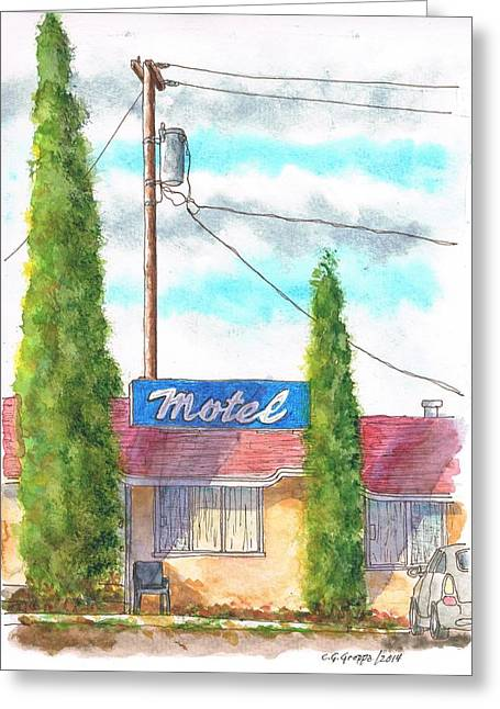Devine Greeting Cards - Motel sign in Route 66 Andy Devine Ave - Kingman - Arizona Greeting Card by Carlos G Groppa