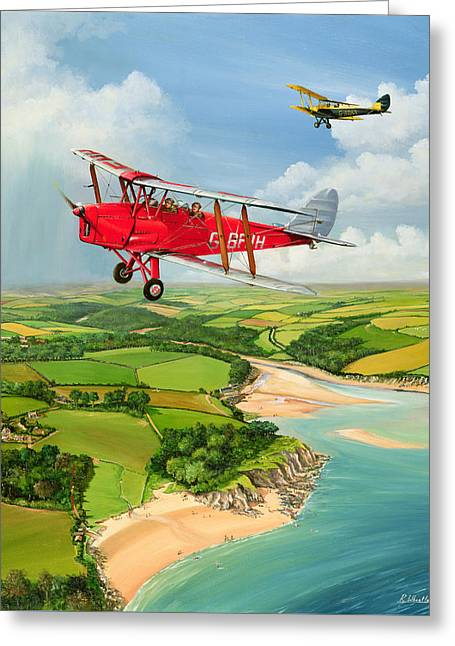 Mothecombe Moths Greeting Card by Richard Wheatland