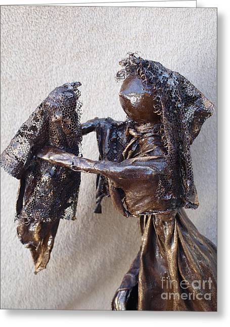 Quirky Sculptures Greeting Cards - Mother and Baby - 2nd Photo Greeting Card by Vivian Martin