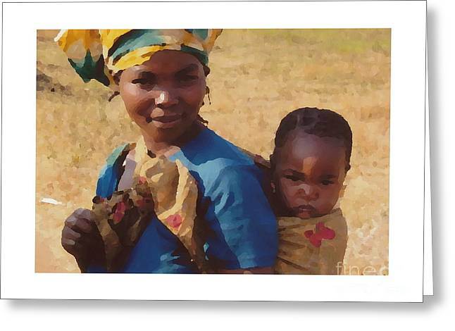 Mother And Child Greeting Cards Greeting Cards - Mother and Child Greeting Card by Joyce Gebauer