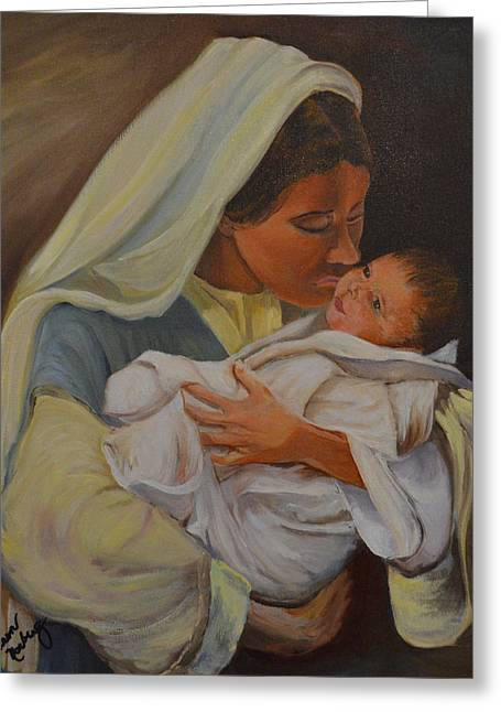 Universal Mother Greeting Cards - Mother and Child Greeting Card by Karen Norberg