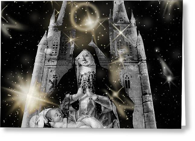 Catherdral Greeting Cards - Mother And Child Greeting Card by Miroslava Jurcik