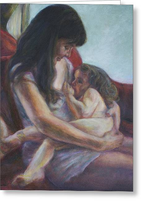 Best Sellers -  - Daughter Gift Greeting Cards - Mother and Child Greeting Card by Quin Sweetman
