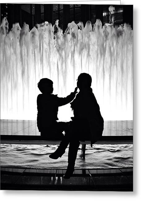 Times Square Digital Art Greeting Cards - Mother and Child Reunion Greeting Card by Natasha Marco
