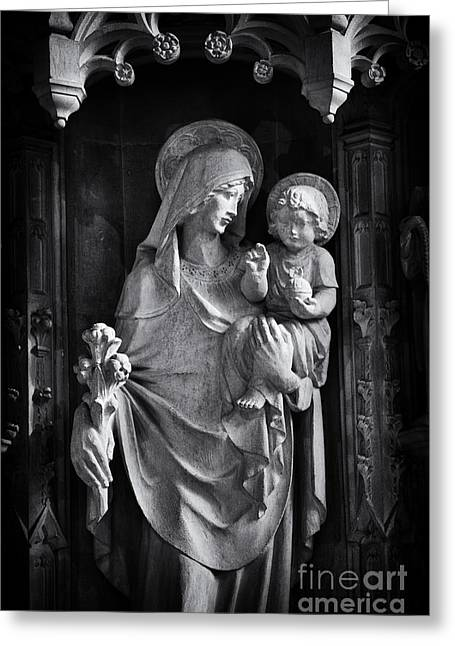 Christ Child Greeting Cards - Mother and Child Greeting Card by Tim Gainey