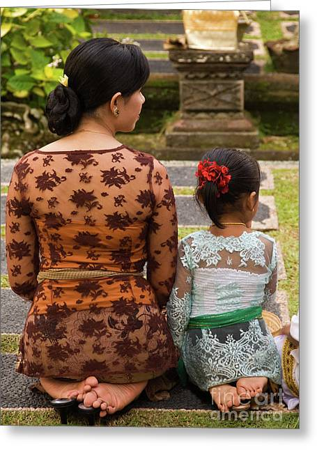 Southeast Asian Greeting Cards - Mother and Daughter Greeting Card by Rick Piper Photography