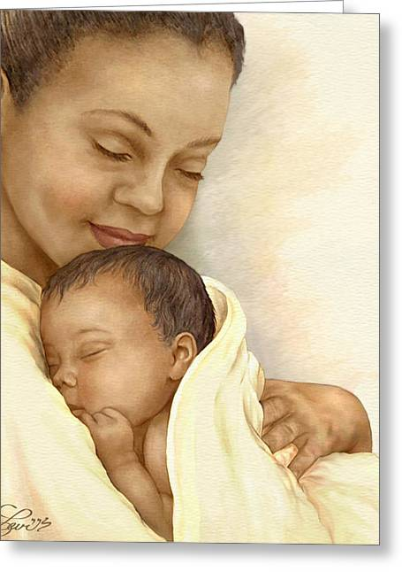 African Americans Mixed Media Greeting Cards - Mother Greeting Card by Beverly Levi-Parker