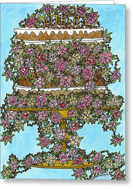 Culinary Drawings Greeting Cards - Mother Cake Greeting Card by Mag Pringle Gire