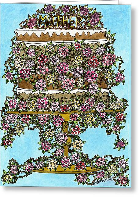 Culinary s Drawings Greeting Cards - Mother Cake Greeting Card by Mag Pringle Gire