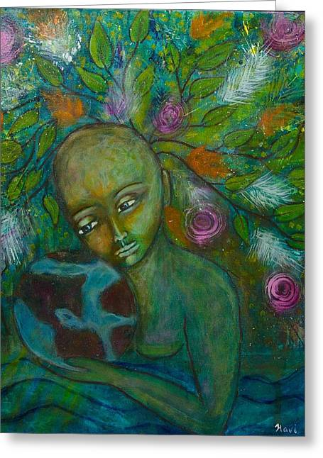 Mother Earth Greeting Card by Havi Mandell