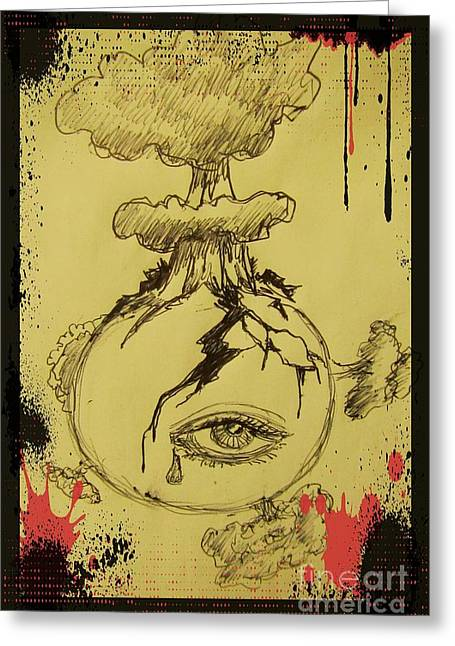 Storm Prints Digital Greeting Cards - Mother Earths Final Sigh Greeting Card by John Malone