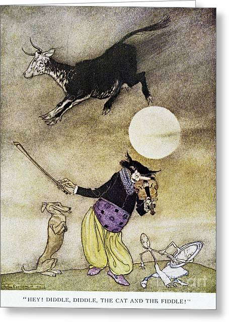 Mother Goose Greeting Cards - Mother Goose, 1913 Greeting Card by Granger