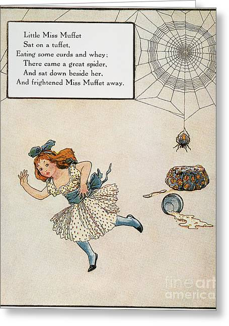 Nursery Rhyme Greeting Cards - Mother Goose, 1915 Greeting Card by Granger