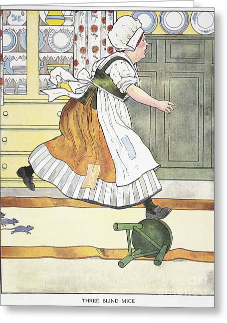 Nursery Rhyme Greeting Cards - Mother Goose, 1916 Greeting Card by Granger