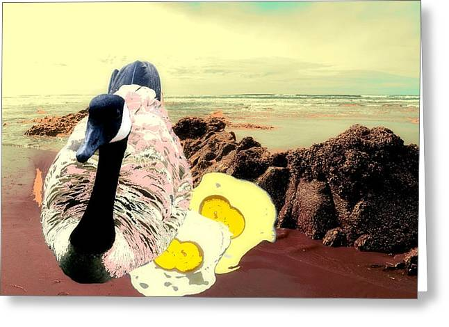 Mother Goose Greeting Cards - Mother Goose in a Past Life Greeting Card by Laureen Murtha