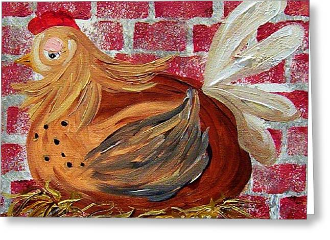 Mom Greeting Cards - Mother Hen Greeting Card by Eloise Schneider
